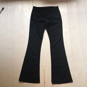 Black flare leg Theory pants